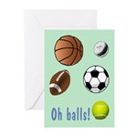 Oh Balls Belated Birthday Greeting Cards (Pk of 20