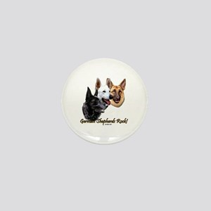 German Shepherds Rock Mini Button