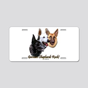 German Shepherds Rock Aluminum License Plate