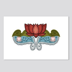 """Red Lotus"" Postcards (Package of 8)"