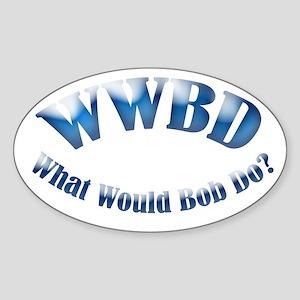WWBD Oval Sticker