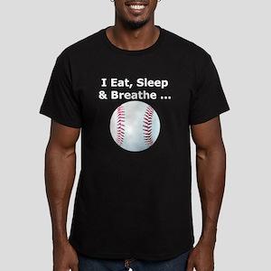 Eat, Sleep, Breathe Baseball Men's Fitted T-Shirt