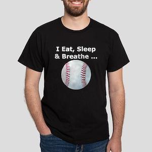 Eat, Sleep, Breathe Baseball Dark T-Shirt