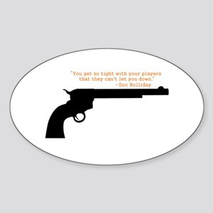 Doc Holliday Sticker (Oval)