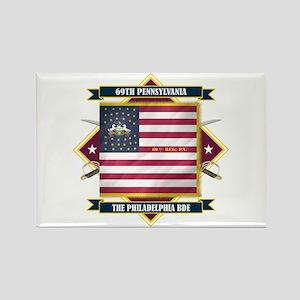 69th Pennsylvania Rectangle Magnet