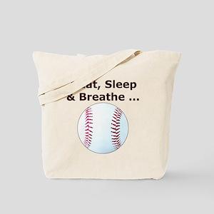 Baseball Eat Sleep Breathe Tote Bag