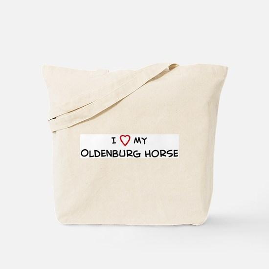 I Love Oldenburg Horse Tote Bag