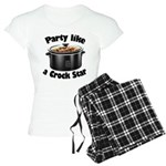 Party Like A Crock Star Women's Light Pajamas
