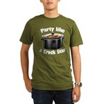 Party Like A Crock Star Organic Men's T-Shirt (dar