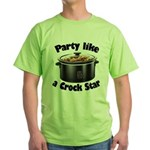 Party Like A Crock Star Green T-Shirt