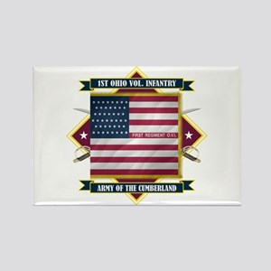 1st Ohio Volunteer Infantry Rectangle Magnet