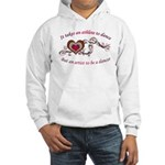 It Takes An Athlete To Dance Hooded Sweatshirt