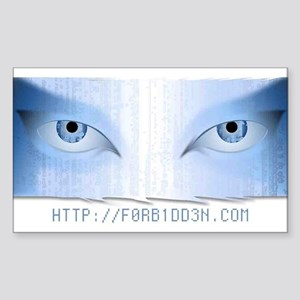 F0RB1DD3N.COM Rectangle Sticker