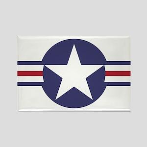 USA Roundel Rectangle Magnet