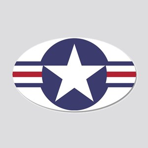USA Roundel 22x14 Oval Wall Peel
