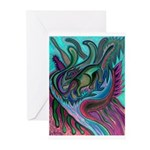 Valley Cat 5 Greeting Cards (Pk of 10)