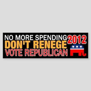 No More Spending