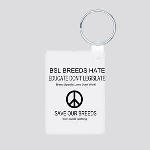 NO BSL Aluminum Photo Keychain