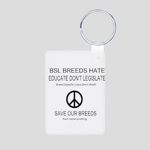 NO BSL Aluminum Photo Keychain