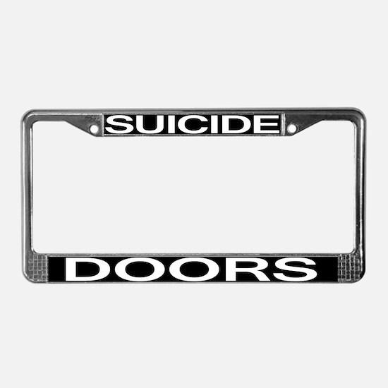 Suicide Doors License Plate Frame
