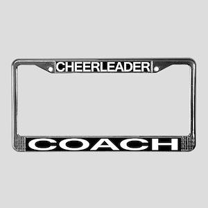 Cheerleader Coach License Plate Frame