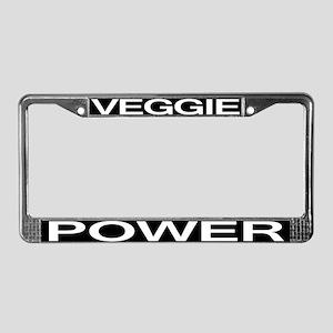 Veggie Power License Plate Frame