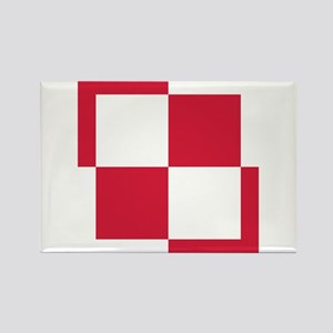 Poland Roundel Rectangle Magnet