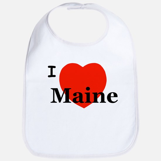 I Love Maine Bib