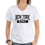 New York Girl Women's V-Neck T-Shirt