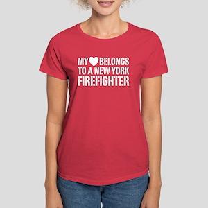 My Heart Firefighter Women's Dark T-Shirt