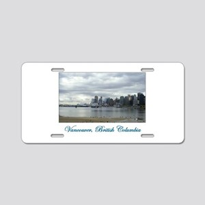 Downtown Vancouver BC Aluminum License Plate