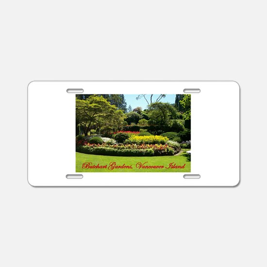 Flowers BG, VI Aluminum License Plate