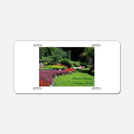 Flowers 3 BG, VI Aluminum License Plate