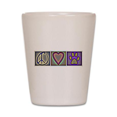 Peace Love Dogs - Shot Glass