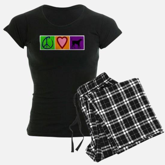 Peace Love Black Labs - Pajamas