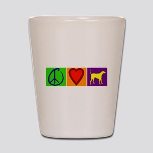 Peace Love Yellow Labs - Shot Glass
