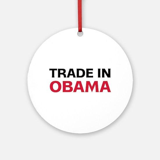 Trade In Obama 2012 Ornament (Round)