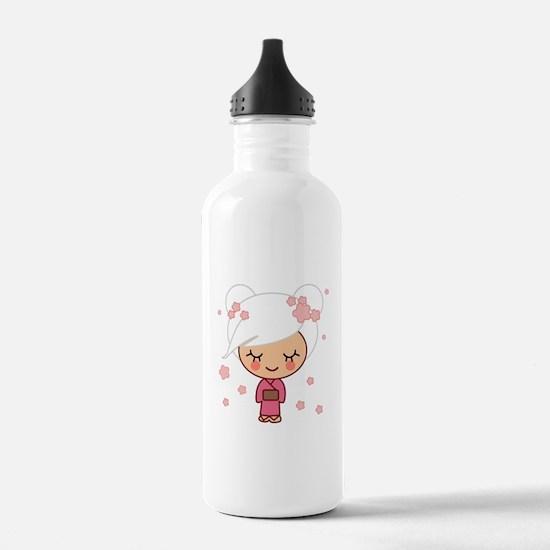 cherry blossom girl Water Bottle