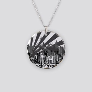 New York Style Necklace Circle Charm
