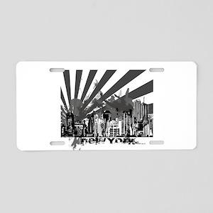 New York Style Aluminum License Plate