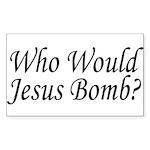 Jesus Bombs Rectangle Sticker