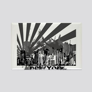 New York Style Rectangle Magnet