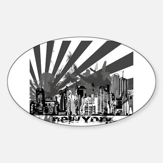 New York Style Sticker (Oval)