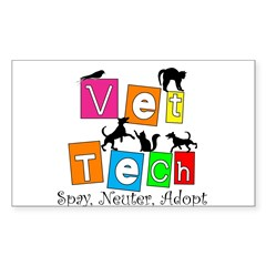 Cat Lovers/Veterinary Sticker (Rectangle)