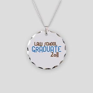 Law School Graduate 2011 (Retro Blue) Necklace Cir
