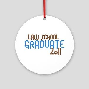 Law School Graduate 2011 (Retro Blue) Ornament (Ro