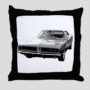 69 Charger Throw Pillow