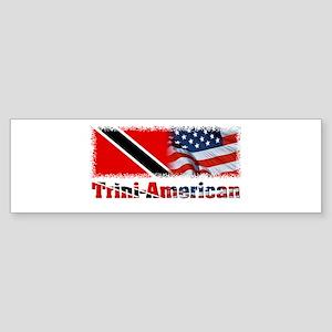 Trini-American Bumper Sticker