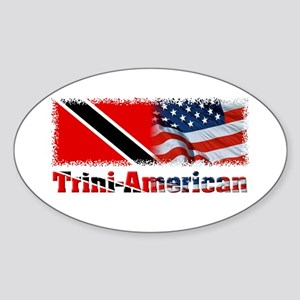 Trini-American Oval Sticker