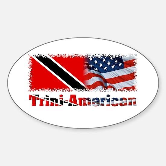Trini-American Oval Decal